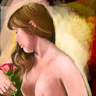 danielle 2 chiaroscuro artwork by artist nick kozis