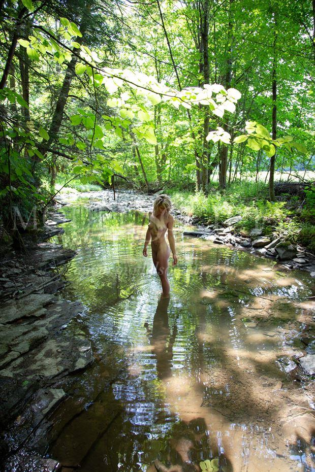 dappled creek artistic nude photo by photographer michael grace martin