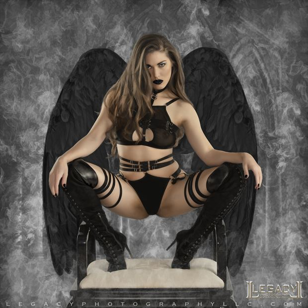 dark angel rising lingerie photo by photographer legacyphotographyllc