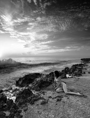 dawn at the sea artistic nude photo by photographer bradmiller