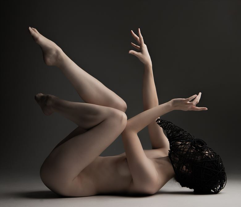 death mask artistic nude photo by photographer eric upside brown