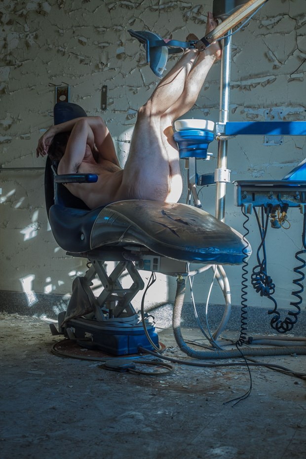 dentist chair artistic nude photo by model naked freedom