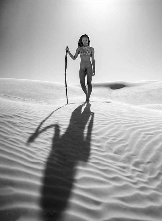 desert goddess artistic nude photo by photographer rik williams