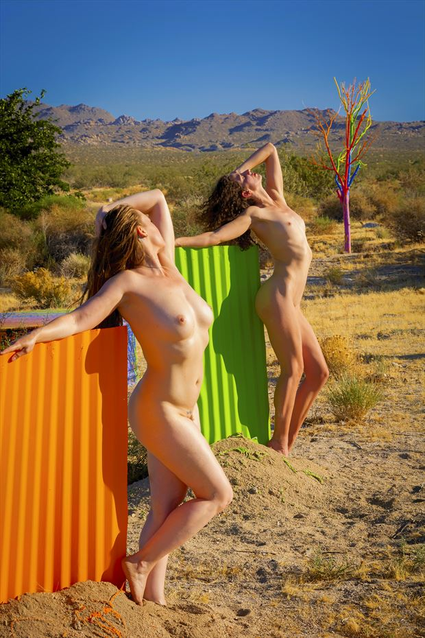 desert sculptures color artistic nude photo by photographer philip turner