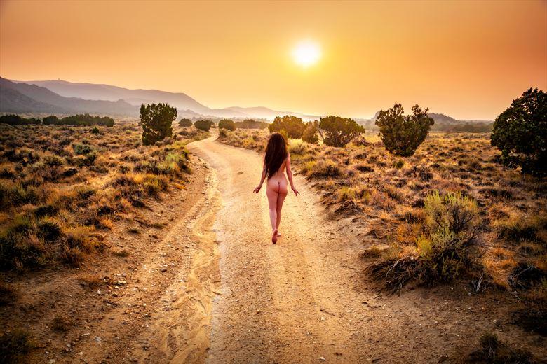 desert wildfire nude artistic nude photo by photographer under black light