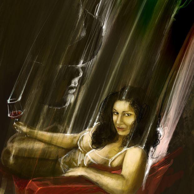 devi nior 2 lingerie artwork by artist nick kozis