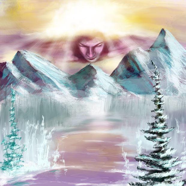 devi yosemite fantasy artwork by artist nick kozis