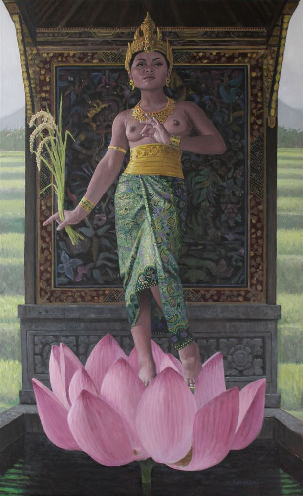 dewi sri artistic nude artwork by artist eric d anderson