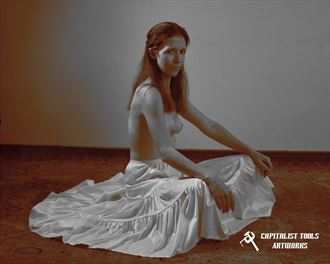 dianea in long slip artistic nude photo by photographer capitalist tools