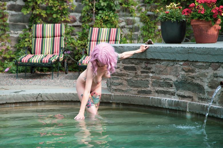 dip in the pool artistic nude photo by photographer michael grace martin