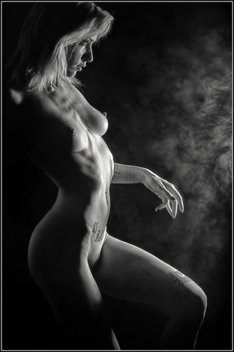 drama and smoke artistic nude photo by photographer magicc imagery