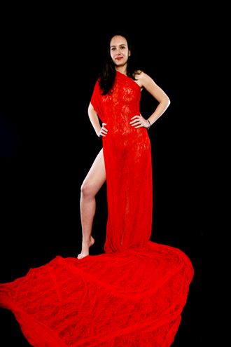draped in red sensual photo by photographer andre