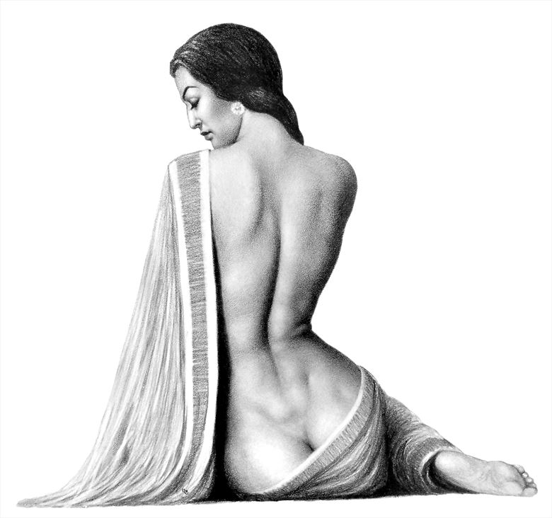 draped sensual artwork by artist subhankar biswas