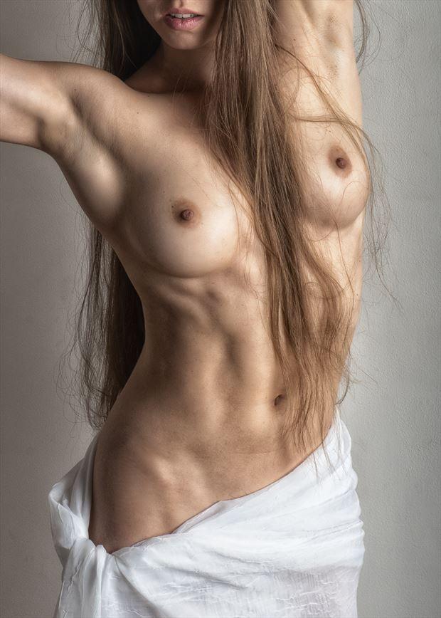 draped torso artistic nude photo by photographer rick jolson