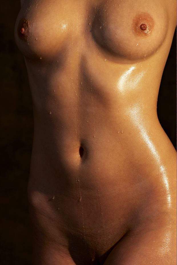 dripping torso artistic nude photo by photographer milt reeder