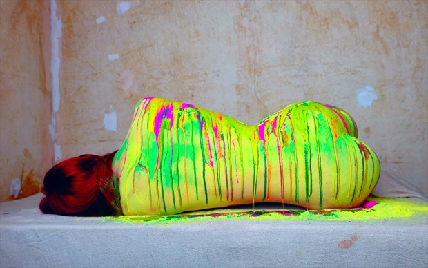 drips Artistic Nude Artwork by Photographer Malcolm  Mellon