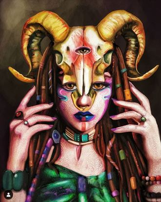 druidessa surreal artwork by artist riccardo scavo