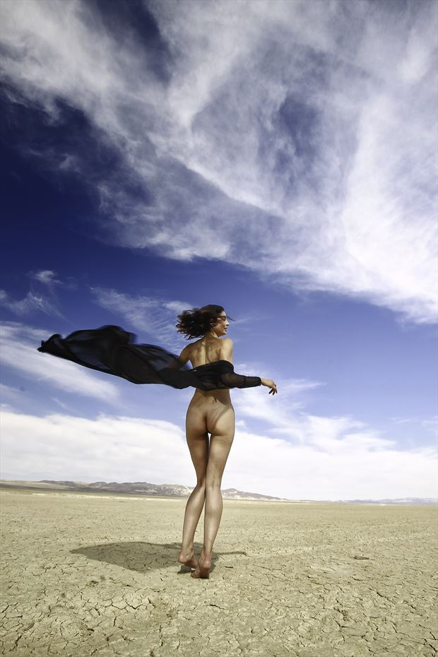 dry lakebed fashion implied nude photo by photographer danwarnerphotography