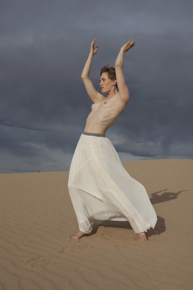 dune dance Nature Photo by Model Stephanie Anne