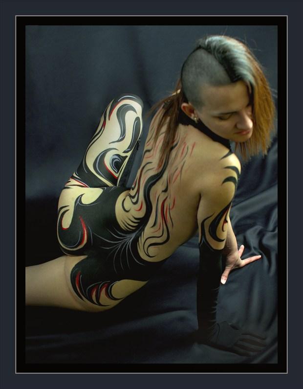 duo Body Painting Artwork by Model Diana Revo