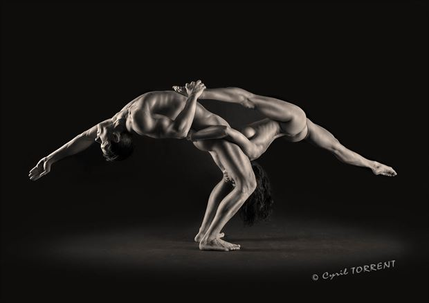 duo artistic nude artwork by photographer cyril torrent