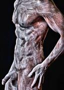 dystorsion artistic nude photo by model avid light