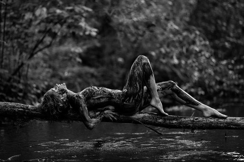 earth and water artistic nude photo by model cali layne