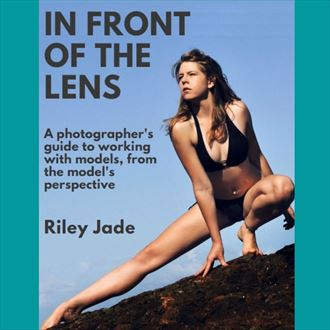 ebook in front of the lens nature photo by model riley jade