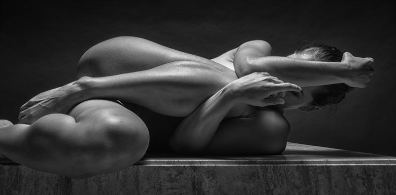 elbow to knee chiaroscuro photo by photographer rick jolson