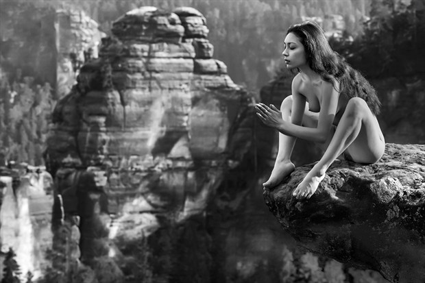 elbsandstein Artistic Nude Photo by Photographer Thomas Bichler