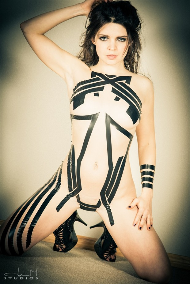 electrical tape Surreal Artwork by Model Pure Rebel