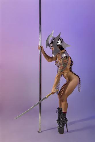 elf girl warrior artistic nude artwork by photographer dmitrii svetov