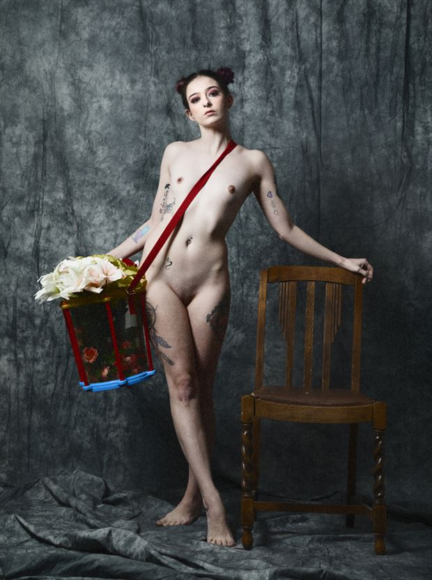 elizabeth and a bucket of flowers artistic nude photo by photographer shutter shutter