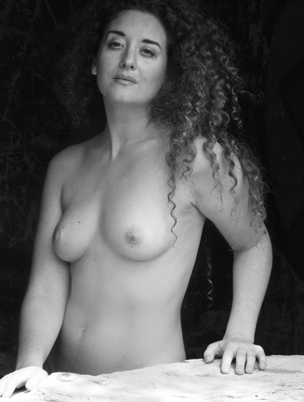 ella rose muse bw portrait artistic nude photo by photographer pgl05