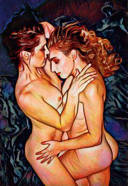 embrace artistic nude artwork by photographer randall lloyd