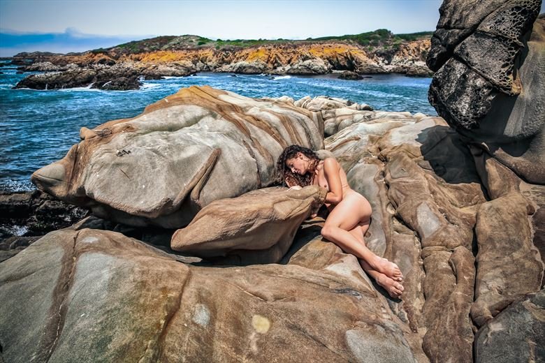embraced by the mother nature artistic nude photo by photographer jonathan c