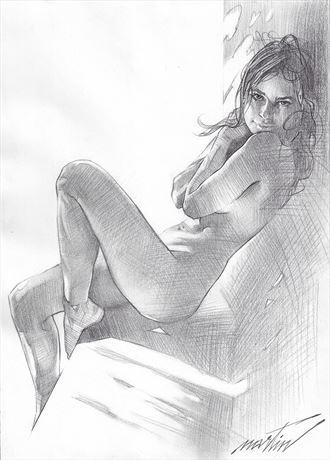 emily artistic nude artwork by artist james martin