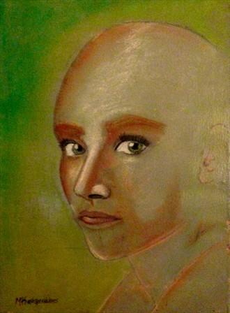 enigmatic eyes Portrait Artwork by Artist Manolis Kastrinakis