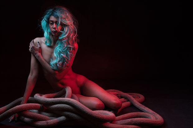 escaping her bonds surreal artwork by photographer jim setzer