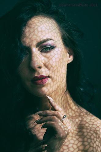 experimental portrait artwork by model xxblackswannxx