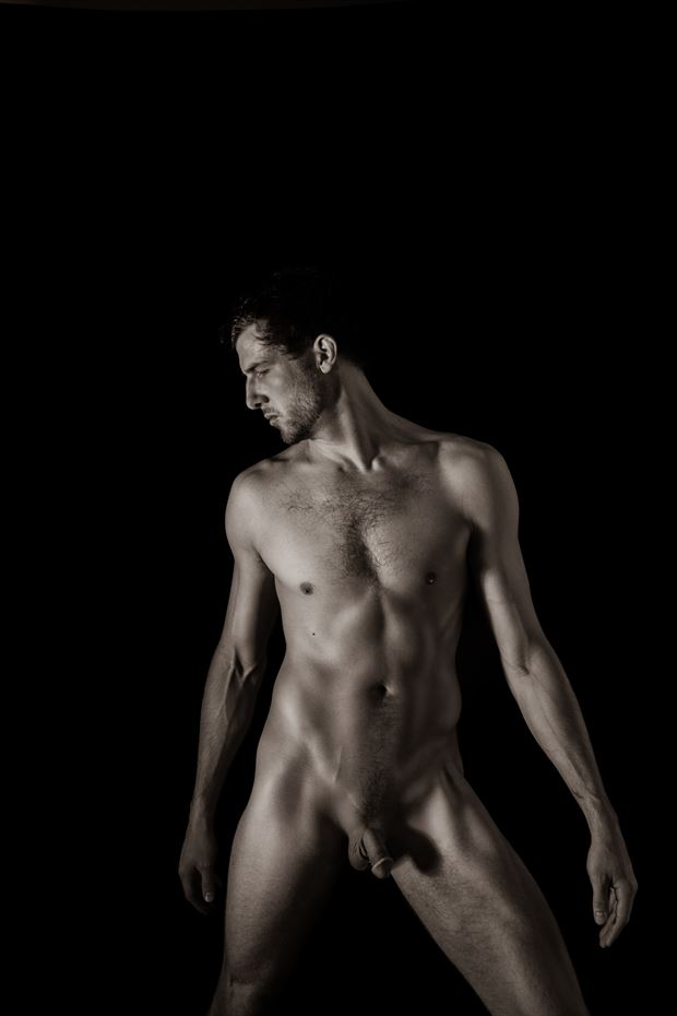 experiments with light in tight quarters artistic nude photo by photographer art studios huck