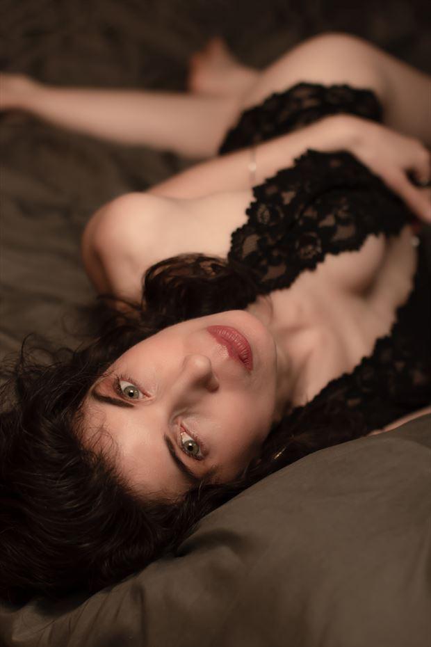 expressive portrait photo by model carma