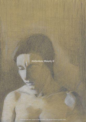 faded illusion artistic nude artwork by artist alexandros makris
