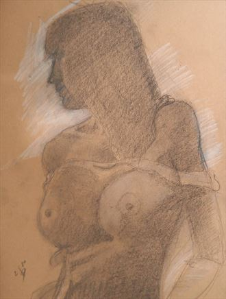 fading away artistic nude artwork by artist alexandros makris