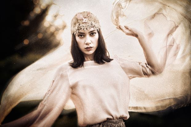 fairy wasp vintage style photo by model rebeccatun