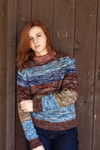 fall sweater vintage style photo by model panda