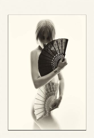 fan dance artistic nude photo by photographer synthesis art 1
