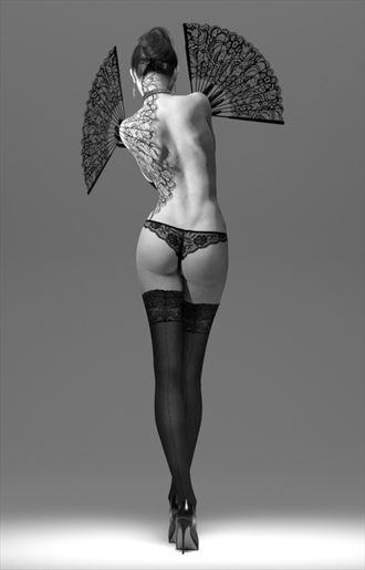 fans lingerie artwork by artist john morris sculptor