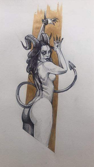 fantasy artwork by model zazyl