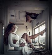 fashion architectural photo by model ceara blu